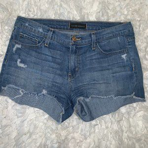 Flying Monkey Distressed Denim Cut-Off Jean Shorts